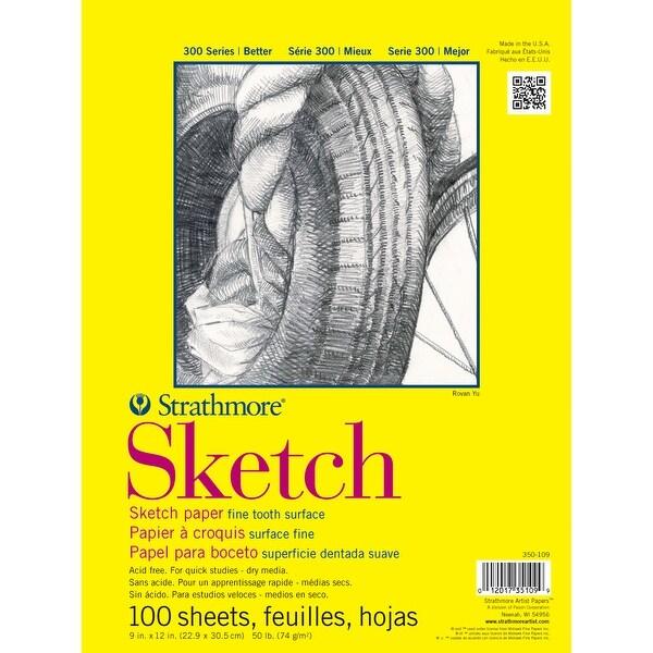 "Strathmore Sketch Paper Pad 11""X14""-50Lb 100 Sheets"