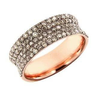 Prism Jewel 1.37Ct Round Cut Brown Color Diamond Wedding Band