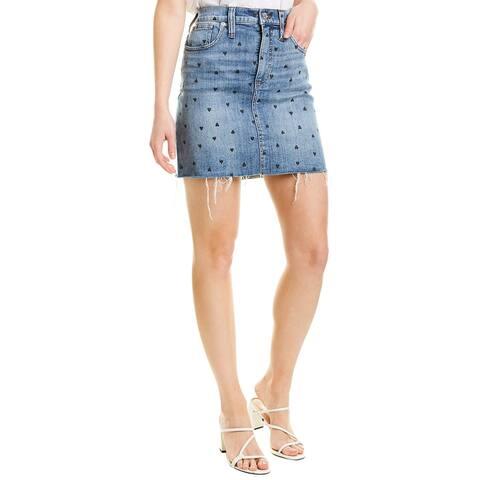 Madewell Stretch Denim Straight Mini Skirt