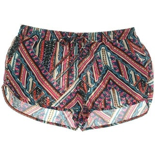 Aqua Womens Juniors Georgette Printed Casual Shorts