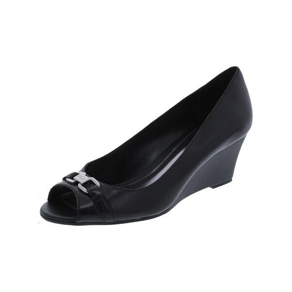 Lauren Ralph Lauren Womens Paula Wedge Heels Open Toe Dressy