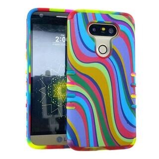 Rocker Series Slim Protector Case for LG G5 (Rainbow)