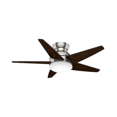 """Casablanca 44"""" Isotope Low Profile Ceiling Fan with LED Light Kit and Wall Control"""