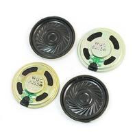 Unique Bargains 4Pcs 0.5W 8 Ohm 40mm Dia Round Metal Internal Magnet Music Player Speaker