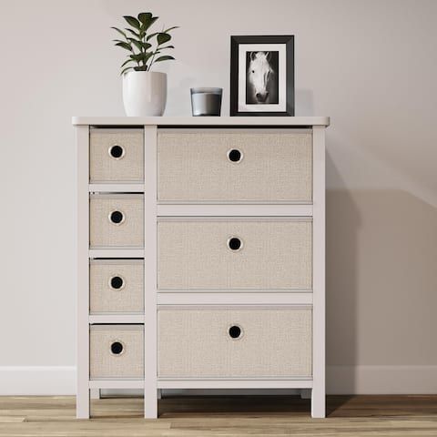 Brookside Fabric Storage Chest with Easy Pull Metal Handles
