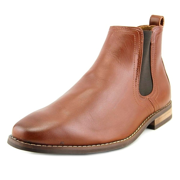 Deer Stags Prime Award Men Round Toe Leather Brown Boot