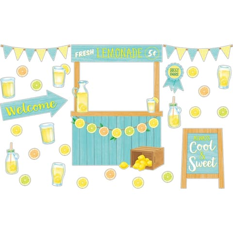 Lemon Zest Lemonade Stand Bulletin Board Set