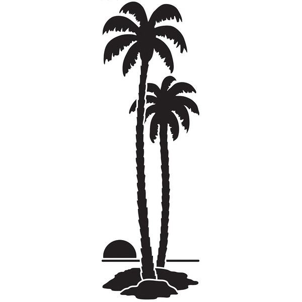 "Dreamweaver Metal Stencil 4""X6.875""-Tall Palm Trees"
