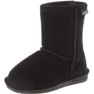 Bearpaw Boots Girls Emma Zipper Suede Metallic Faux Leather
