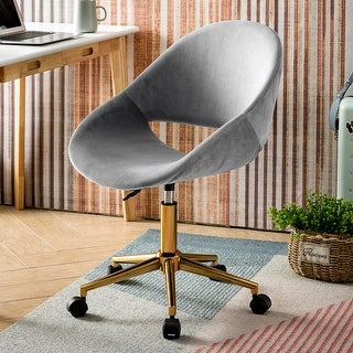 Link to OVIOS Cute Desk Chair,Plush Velvet Office Chair for Home or Office Task Chair for Computer Desk Similar Items in Home Office Furniture