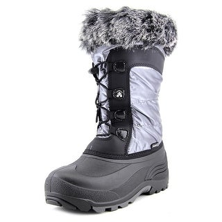 Kamik Solstice Youth Round Toe Synthetic Silver Winter Boot