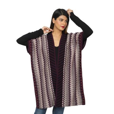 Shop LC PASSAGE Acrylic Knit Plum Chevron Stripe Pattern Sweater Vest - 42X35