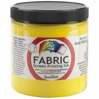 Speedball Art Products Fabric Screen Printing Ink 8 Ounces-Yellow