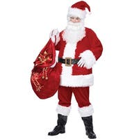 California Costumes Deluxe Santa Suit Plus Size Costume - Red - plus (48-58)