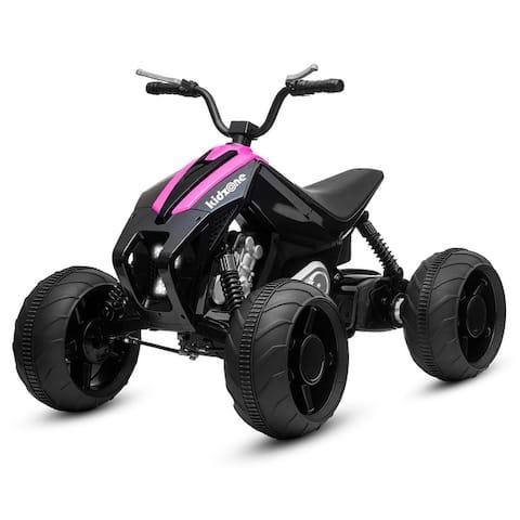 Kidzone Kids Ride On ATV, 12V Battery 45W Electric Vehicle, 7 Colors - standard