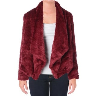 Bardot Womens Waterfall Faux Fur Jacket