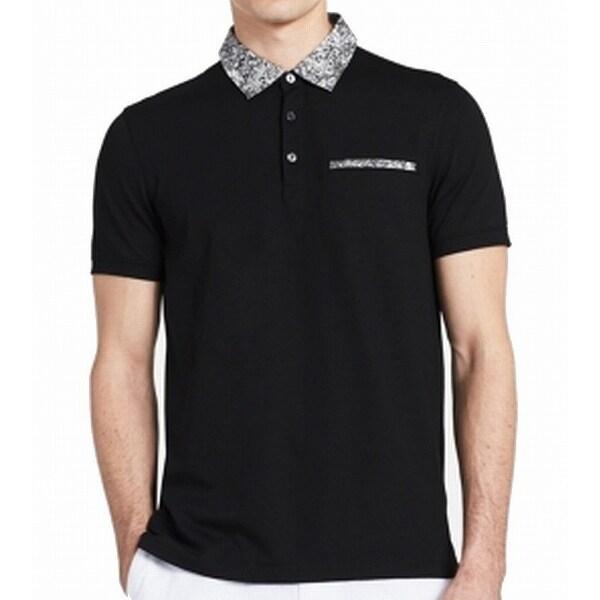 f21ba7528 Shop Calvin Klein Black Mens Medium M Slim Contrast-Collar Polo Shirt -  Free Shipping On Orders Over  45 - Overstock - 21937298