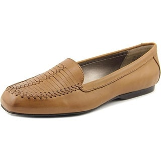 Array Camille Women N/S Square Toe Leather Tan Flats