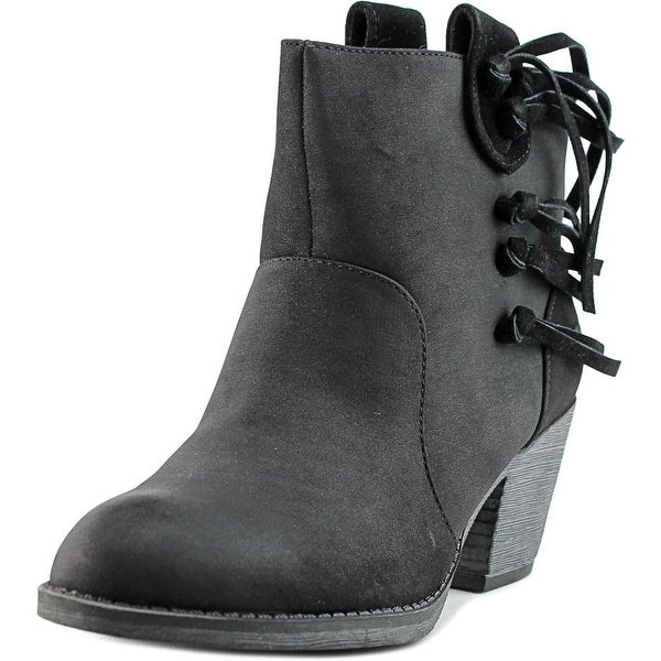 Rocket Dog Stassi Saloon Women Round Toe Synthetic Black Ankle Boot