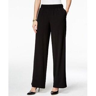 INC International Concepts Petite Women's  Wide-Leg Pants Black (P/P) - P/P