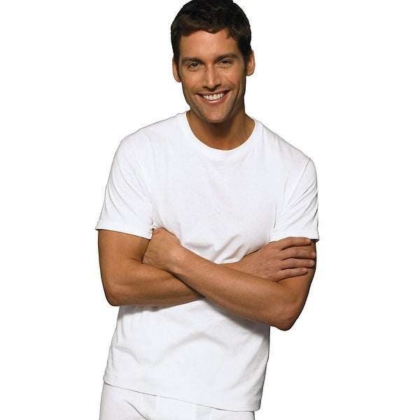 c75a776d Shop Hanes Classic Big Mens Crew Neck T-Shirt P5 - Size - 2XL - Color -  White - Free Shipping On Orders Over $45 - Overstock - 13859125