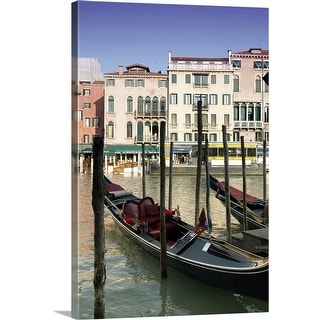 """Gondolas in Venice"" Canvas Wall Art"