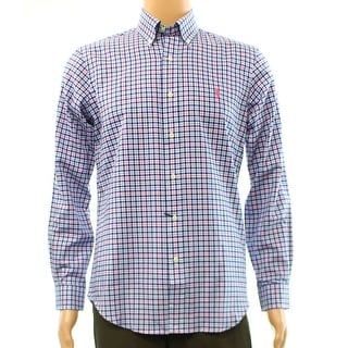Ralph Lauren NEW Blue Mens Size Small S Embroidered Button Down Shirt