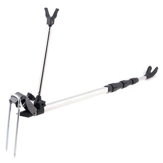 Unique Bargains U Shaped Head 1.5M Long 4 Section Telescoping Fishing Rod Pole Stand Holder Rack
