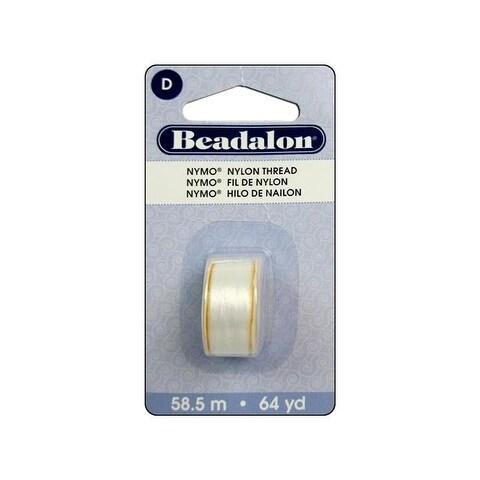 Beadalon Nymo Thread Size D White 64yd