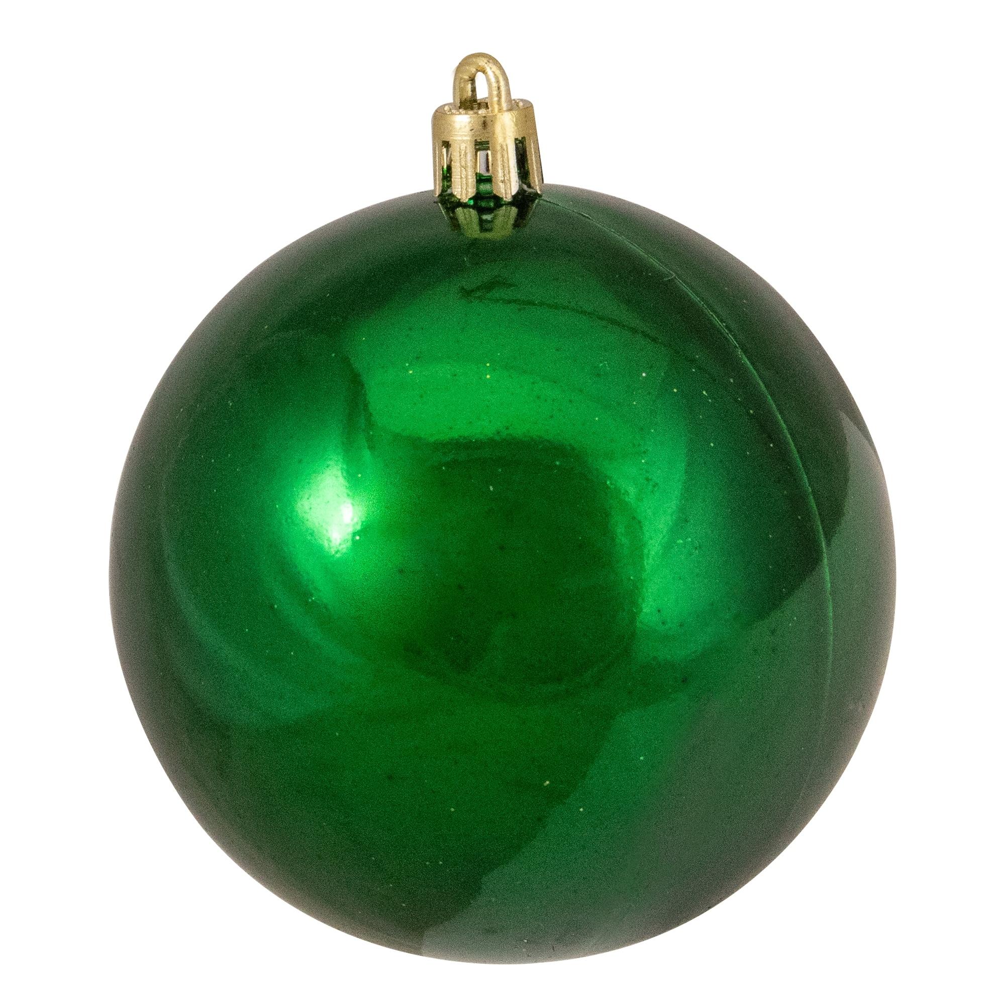 32ct Xmas Green Shatterproof 4 Finish Christmas Ball Ornaments 3 25 Overstock 16551062