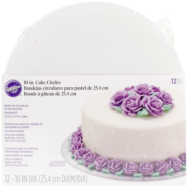"Cake Boards-10"" Round White 12/Pkg"