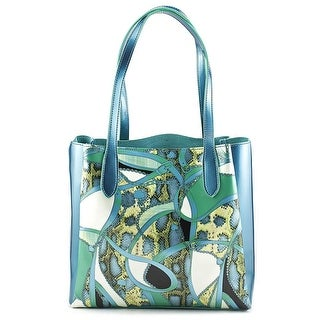 Buco Mosaic Patent Leather Tote Women   Synthetic  Tote - Blue