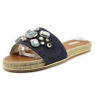 Vince Camuto Caden2 Women Open-Toe Canvas Blue Slipper
