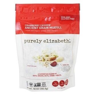 Purely Elizabeth Ancient Grain Muesli - Cranberry Cashew - Case of 6 - 10 oz.