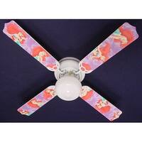 Disney's Purple Ariel Print Blades 42in Ceiling Fan Light Kit - Multi