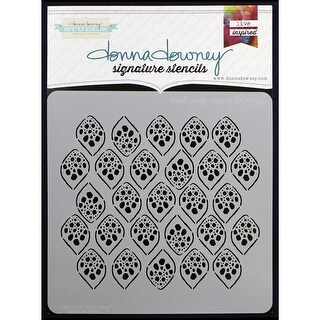 "Donna Downey Signature Stencils 8.5""X8.5""-Small Pods Repeat"