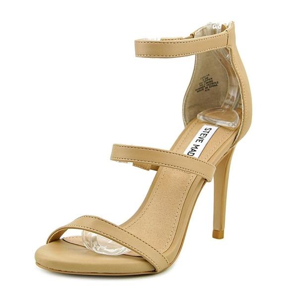 Steve Madden Feelya Women Open Toe Synthetic Nude Sandals