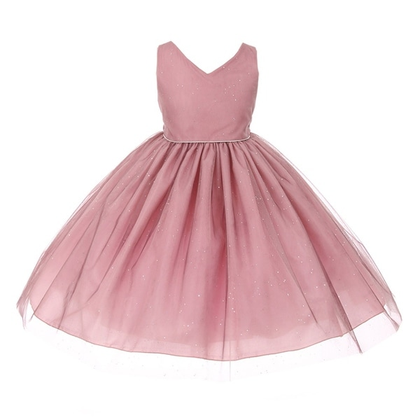 758e80aca Shop Chic Baby Girls Plum Glitter Tulle Overlay Special Occasion Dress -  Free Shipping On Orders Over $45 - Overstock - 18166800