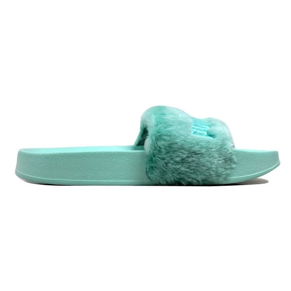 online store 23d77 d79f7 Shop Puma Women's Fur Slide Bay/Puma Silver Fenty 365772 01 ...