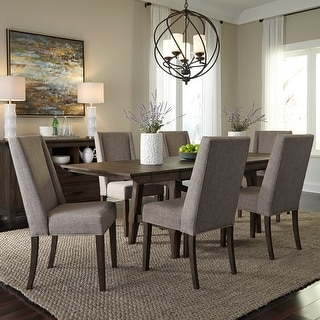 Double Bridge Opt 7 Piece Trestle Table Set With Parson Chairs