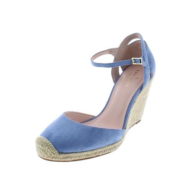 e8a5b8ecfe9 Shop Kate Spade Womens Giovanna Wedge Heels Suede Espadrille - Free ...