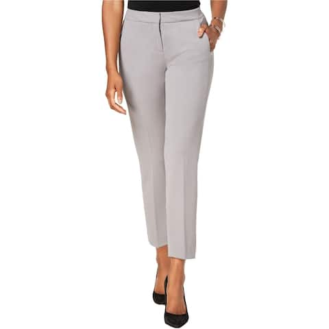 Kasper Womens Straight Leg Crepe Dress Pants, grey, 18