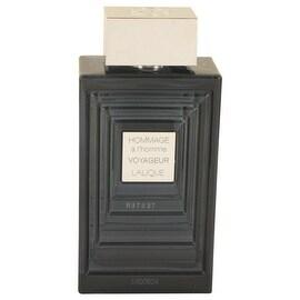 Hommage A L'homme Voyageur by Lalique Eau De Toilette Spray (Tester) 3.3 oz - Men
