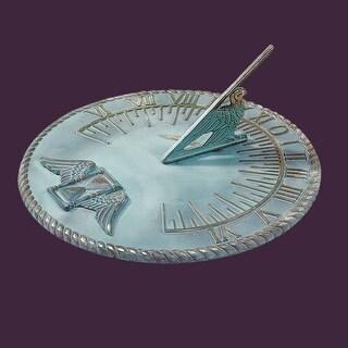 Sundial Verdigris Solid Brass 10