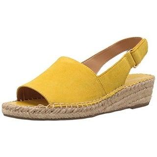 Franco Sarto Womens Leanne Leather Slingback Wedge Sandals - 7 medium (b,m)
