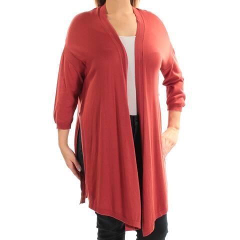 ANNE KLEIN Womens Brown Dolman Sleeve Open Cardigan Top Size L