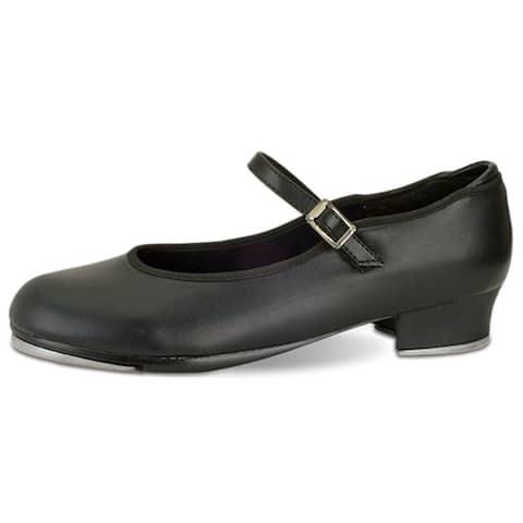 Danshuz Toddler Girls Black Single Strap Non Skid Tap Shoes Size 7-3