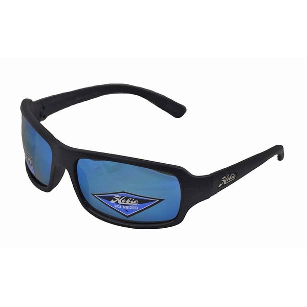 39efbe4812 Shop Hobie Malibu Sunglasses Satin Black Frame with Cobalt Mirror Polarized  Lens - Free Shipping Today - Overstock - 15429089