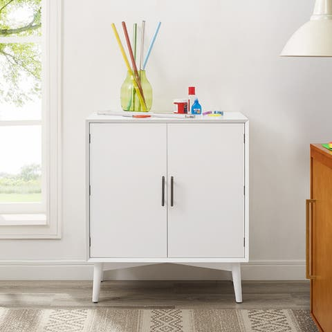 "Landon Bar Cabinet In White - 31.75""W x 19""D x 36""H"