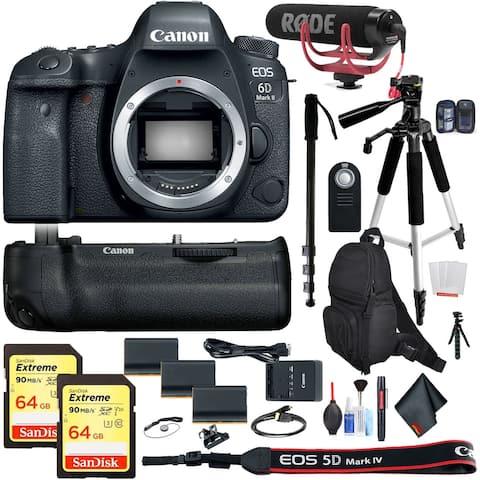 Canon EOS 6D Mark II DSLR Camera (Body Only) Bundle Intl Model